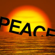 Peace Word Sinking Showing War And Conflict — Stock Photo #9106315