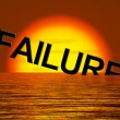 Stock Photo: Failure Word Sinking As Symbol for Rejection And Malfunction