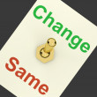 Stock Photo: Change Same Switch Showing That We Should Do Things Differently
