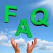 FAQ Letters Falling Showing Information Questions And Answers — Stock Photo