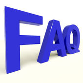 FAQ Word Showing Information And Answers — Stock Photo