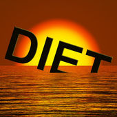 Diet Word Sinking Meaning Broken Diet — Stock Photo