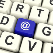 Email Computer Key For Emailing Or Contacting — Stock Photo