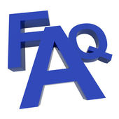FAQ Word Showing Information Questions And Answers — Stock Photo
