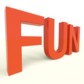 Fun Word In Plastic Letters For Enjoyment And Happiness — Stock Photo