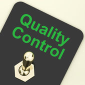 Quality Control Switch Showing Satisfaction And Perfection — Stock Photo
