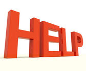 Help Letters As Symbol For Support And Advice — Stock Photo