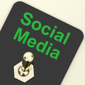 Social Media Switch Shows Different Types Of Online Information — 图库照片