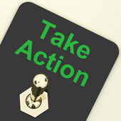 Take Action Switch To Inspire And Motivate — Stock Photo
