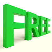 Free Word In Green Showing Freebie and Promotion — Stock Photo