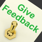 Give Feedback Switch Showing Opinions And Surveys — Stock Photo