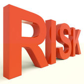 Risk Word In Red Showing Peril And Uncertainty — Stock Photo