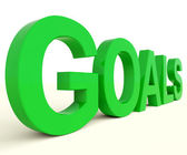 Goals Word Showing Objectives Hope And Future — Stock Photo