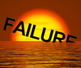 Failure Word Sinking As Symbol for Rejection And Malfunction — Stock Photo