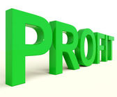 Profit Word Representing Market And Trade Earnings — Stock Photo