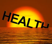 Health Word Sinking Showing Unhealthy Or Sick Condition — Stock Photo