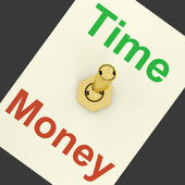 Time Money Switch Showing Hours Are More Important Than Wealth — Stock Photo