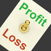 Profit Switch On Representing Market And Trade Earnings — Stock Photo