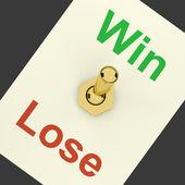 Schakelaar aan vertegenwoordigers van succes en overwinning winnen — Stockfoto