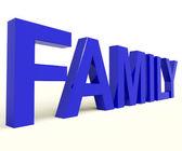 Familjen ord som symbol för föräldraskap och samhörighet — Stockfoto