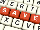 Save Computer Keys As Symbol For Discounts Or Promotion — Stock Photo