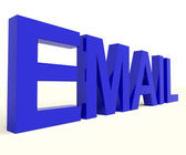 Email Word In Blue For Emailing Or Contacting — Stock Photo