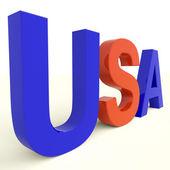 Parola usa come simbolo per l'america e patriottismo — Foto Stock
