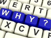 Why Computer Keys Asking A Question Or Having Confusion — Stock Photo