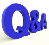 Q And A Letters Showing Questions And Answers — Stock Photo