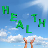 Catching Health Word Showing A Healthy Condition — Stock Photo