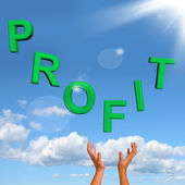 Catching Profit Word Representing Market And Trade Earnings — Stock Photo