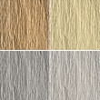 Set of 4 goffered paper textures: brown, yellow, grey and white — Stock Photo