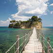 Small islet and a bridge - Foto Stock