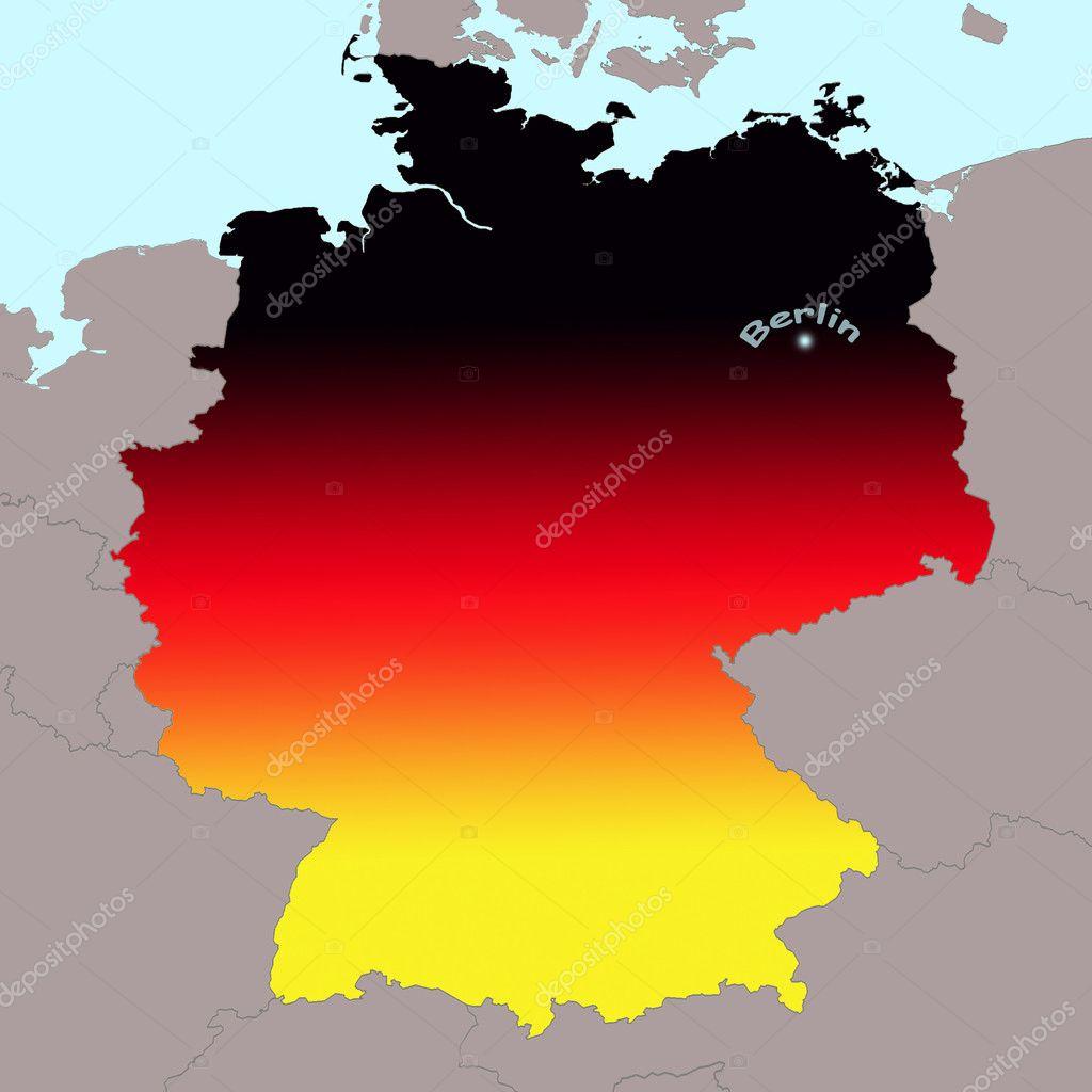 German map Photo CAHKT 9190570 – German Map