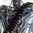 War machine with red eyes - Stock Photo