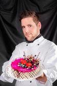 ハンサムな菓子とケーキ — ストック写真