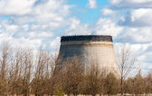 Cooling tower half ready in chernobyl — Stock Photo