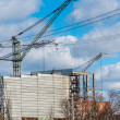 Industrial cranes building architecture — Stock Photo