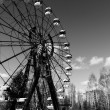 Постер, плакат: The Ferris Wheel in Pripyat Chernobyl 2012 March