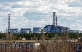 Chernobyl Nuclear Power Plant from afar, 2012 — Stock Photo