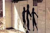 Graffiti in Pripyat, Chernobyl — Stock Photo