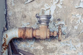 Old rusty tap closeup — Stock Photo
