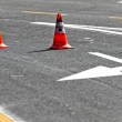 Road block with lanes — Stock Photo #8084704
