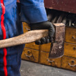 Mholding industrial axe — Stockfoto #8084874