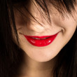 Beautiful girl grinning — Stock Photo