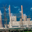 Fumes coming out of power plant — Foto Stock