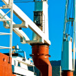 Industrial crane at dock - Stockfoto
