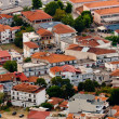Stok fotoğraf: Aerial view of village with small houses