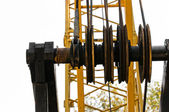 Industrial crane against white background — Stock Photo