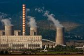 Fumes coming out of power plant — Stock Photo